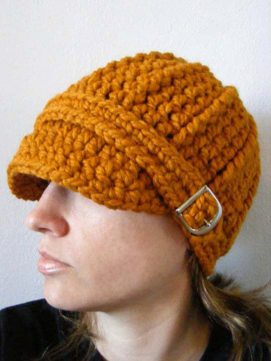 Adult Butterscotch Buckle Beanie by Two Seaside Babes