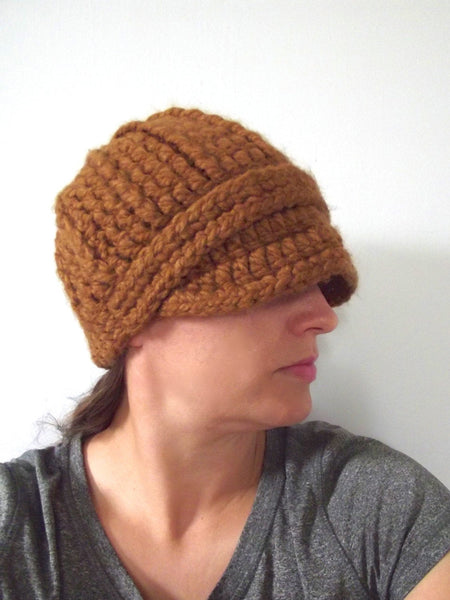 Hazelnut buckle beanie winter hat