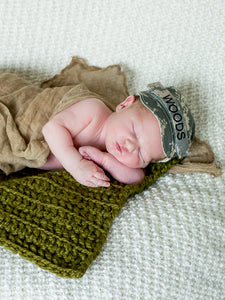 Olive Green | newborn photo prop layering baby blanket, basket stuffer, bucket filler by Two Seaside Babes