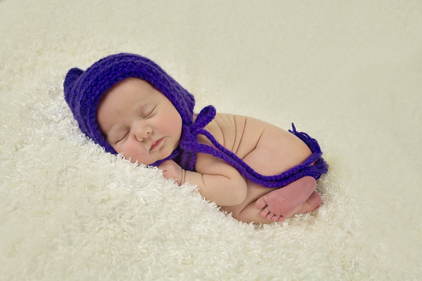 Grape Pixie Elf Baby Hat