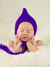 Grape Pixie Elf Baby Hat by Two Seaside Babes