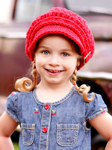 2T to 4T Red Buckle Newsboy Cap by Two Seaside Babes
