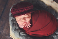 Dark Red Wine | Irish wool Donegal newsboy hat, flat cap, golf hat | newborn, baby, toddler, boy, & men's sizes