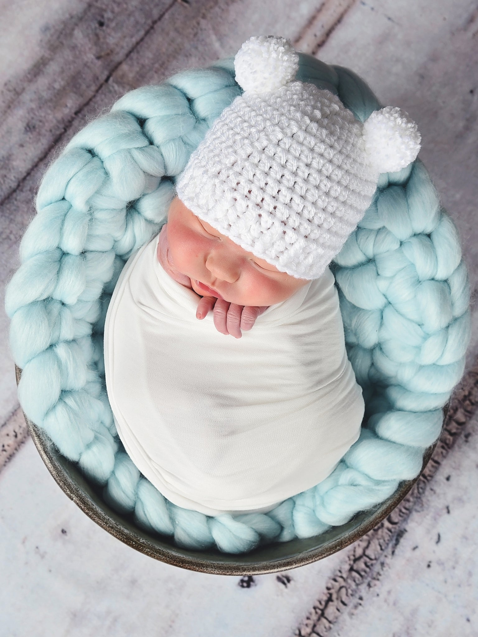 Pale Blue Chunky Round Bump Blanket by Two Seaside Babes