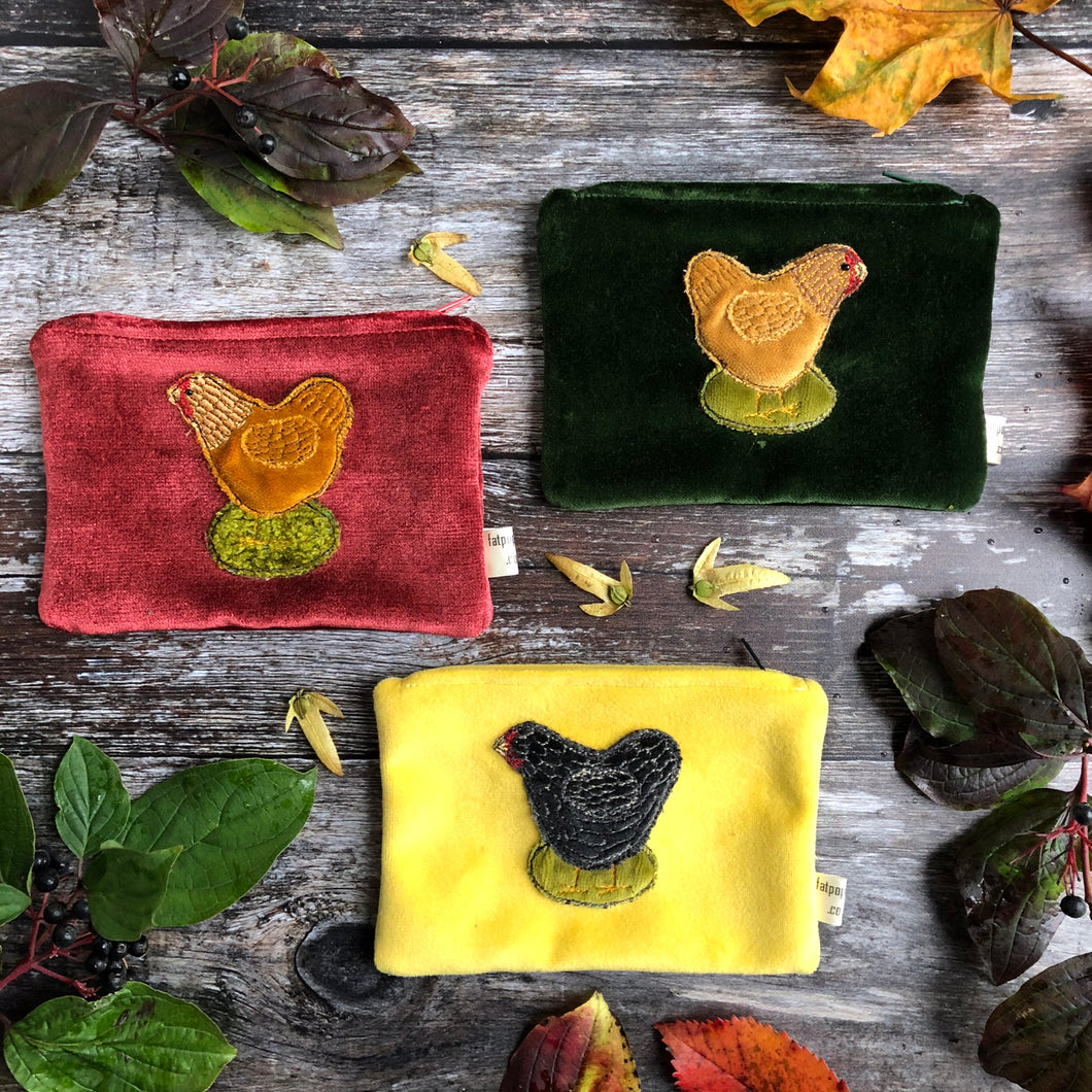 Coin purse - chickens