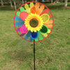 Kids Sunflower Windmill Wind Spinner Rainbow Whirligig Wheel Home Lawn Yard Decor Hot-TwFi Nov