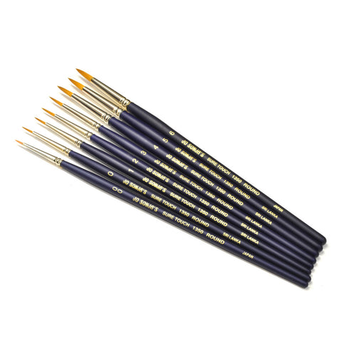 1350 Golden Taklon Round - brush bundle