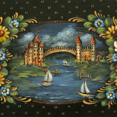 Narrow Boat Painting Celebration Tray - JP3205