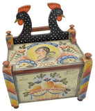 Black Rooster Salt Box - JP3265