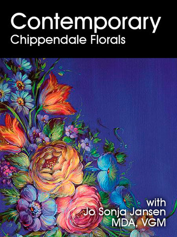 Contemporary Chippendale Florals - Online Class