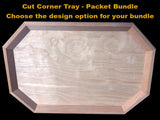 Cut Corner Tray - packet bundle - FREE US shipping