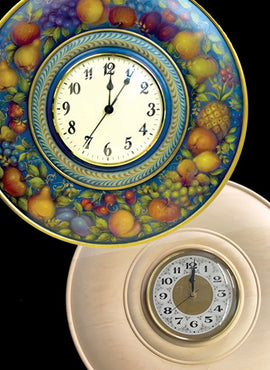 Painted Fruit DVD & Clock Plate Bundle - FREE US Shipping