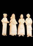 Nativity Ornaments - Collection Five - Village Folk 2 - Wood Only