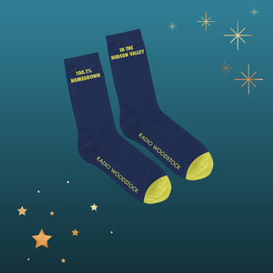 "Radio Woodstock Crew Socks - ""Homegrown in the Hudson Valley"""