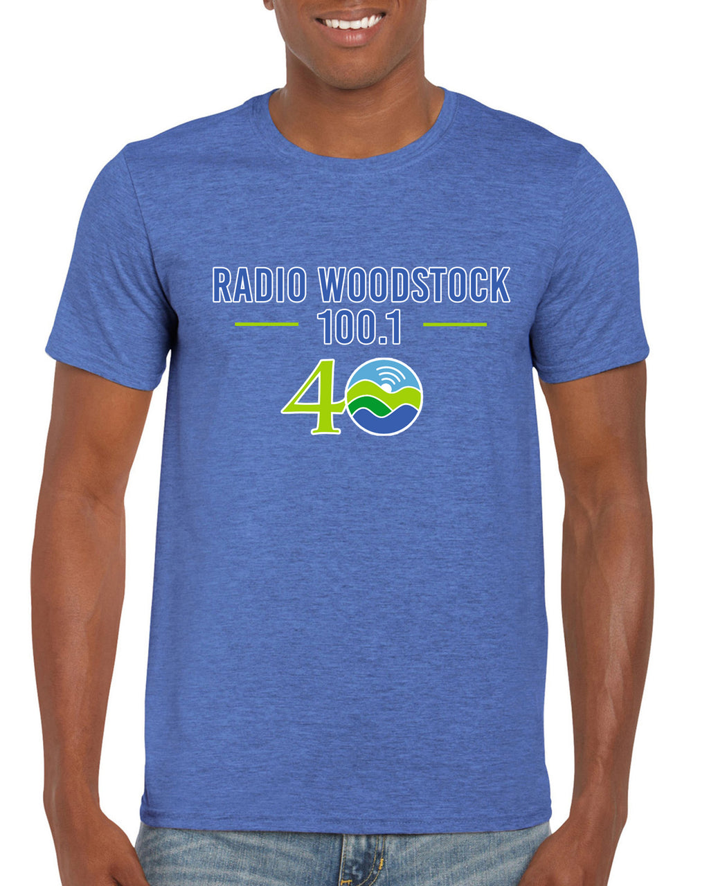 Radio Woodstock 40th Anniversary Tee - Heather Blue *** Limited Edition***