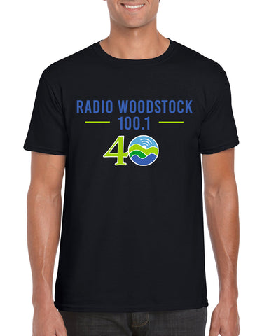 Radio Woodstock 40th Anniversary Tee - Black *** Limited Edition***