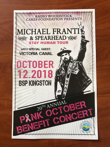 Michael Franti Pink Poster (Not Autographed)