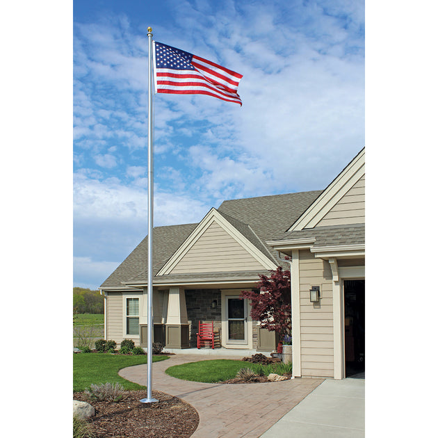 Special Budget Series Flagpole Ecss15 15 Ft External Halyard Flags Poles Int L