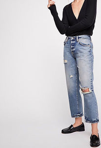Free People Boyfriend Denim
