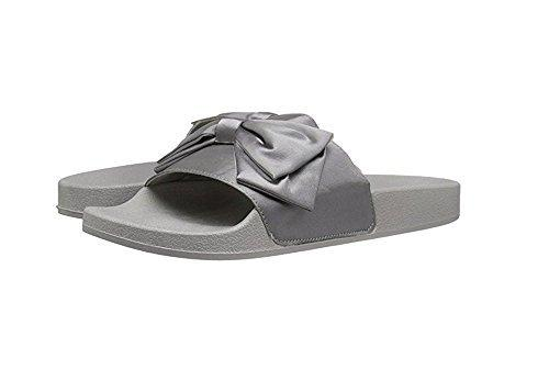 JD Womens Comfy Flats Bow Tie Sliders Fabric Slip On Slides Sandals by