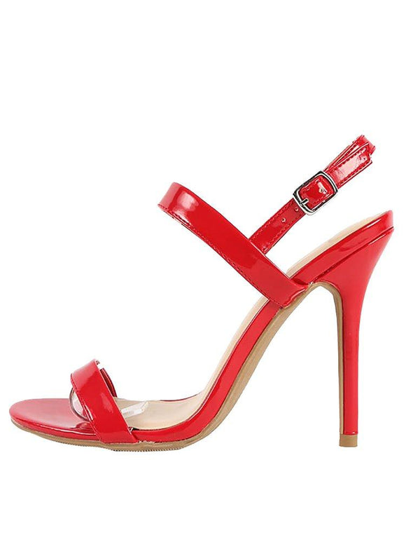Wild Diva Lounge Adele Slingback Ankle Strap Stiletto High Heel Shoe Sandals