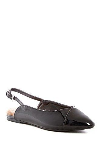 Wild Diva Pippa Faux Fur Lined Slingback Flat Shoes