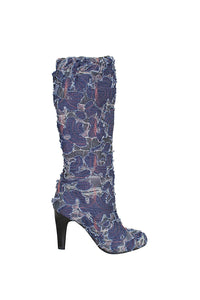 Women's Denim colorful Stiletto High Heel EURO Style Boots