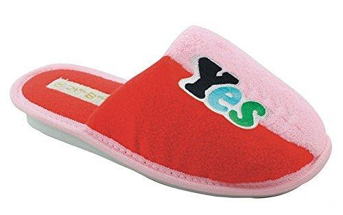 Women's Soft Fleece Multicolor Casual Cozy Slide Slipper Slip-On Sandals with Rose Flower