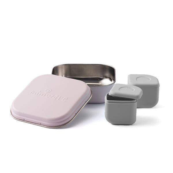 GrowBento Lunch Set Cotton Candy + Dove Grey