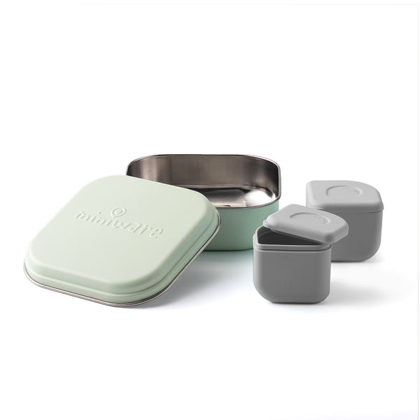 GrowBento Lunch Set Key Lime + Dove Grey