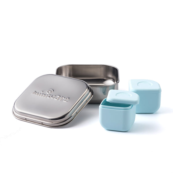 GrowBento Lunch Set Chrome + Aqua