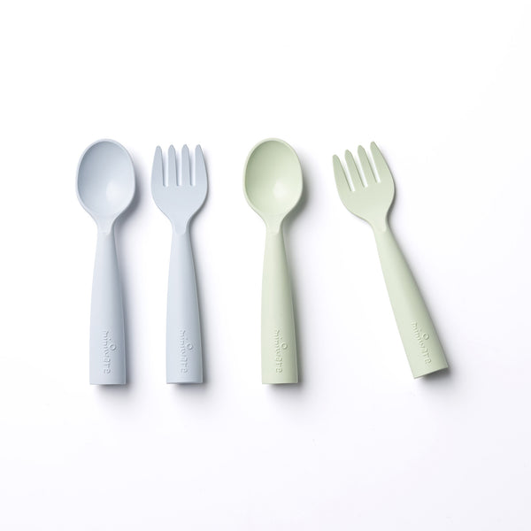 My First Cutlery 2pack Aqua + Key Lime