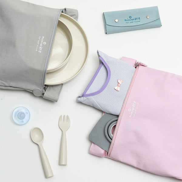 toddler feeding travel bag fits tableware and cutlery