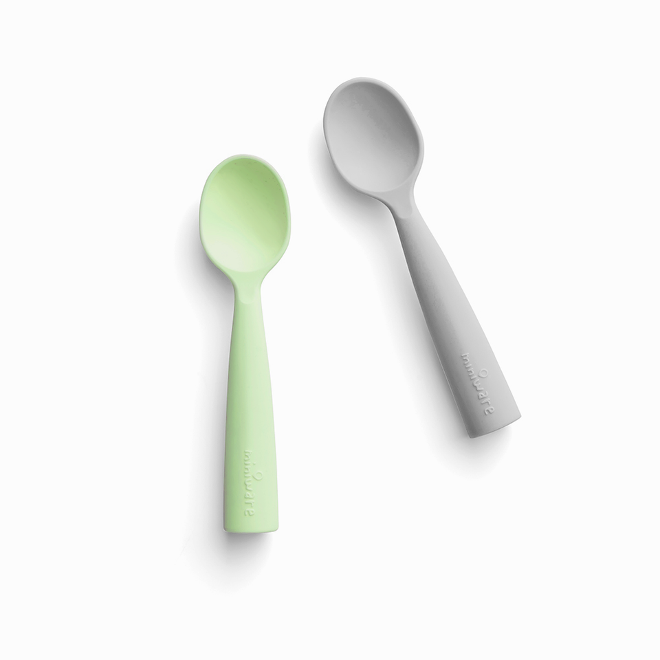 Training Spoon Set Key Lime + Grey