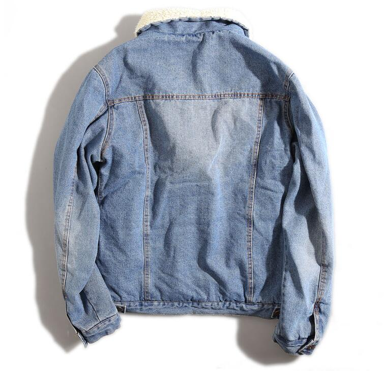 Wool Collar Denim Casual Jacket Men - Discovering Heart