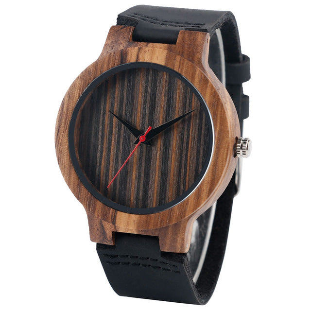 Minimalistic Bamboo Wristwatch - Discovering Heart