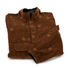 Allover Embroidered Anorak Jacket (Brown)