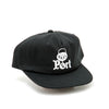 Pass 'Port' 5 Panel Snapback Cap (Black)