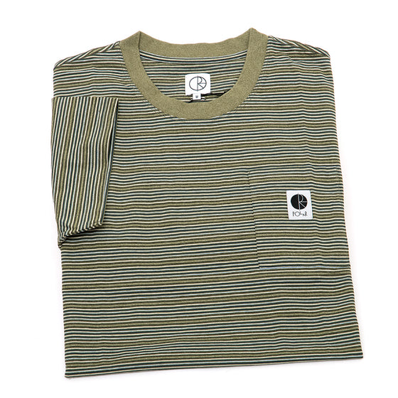 Stripe Pocket Tee (Army Green)