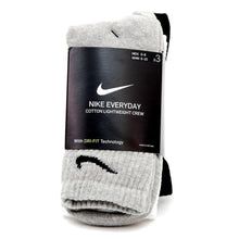 Everyday Lightweight Crew Sock 3 Pack (White / Black / Grey)