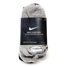 Everyday Lightweight No Show Sock 3 Pack (White / Black / Grey)