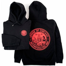 Incorporated Seal Heavyweight Hoody (Black / Red)
