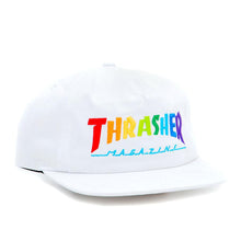 Rainbow Mag Snapback Hat (White)