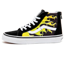 Youth Sk8-Hi Zip (Slime Flame) Black / True White VBU