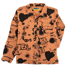 Silly Boy Full Print Work Jacket (Brown)