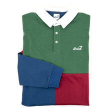 Alive Panel Rugby Shirt (Green / Blue / Red)