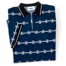 Razor Zip Polo Shirt (Navy)