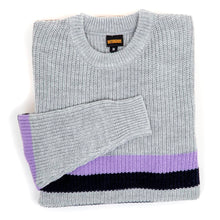 Moor Crewneck Sweater (Grey/Mauve/Navy)