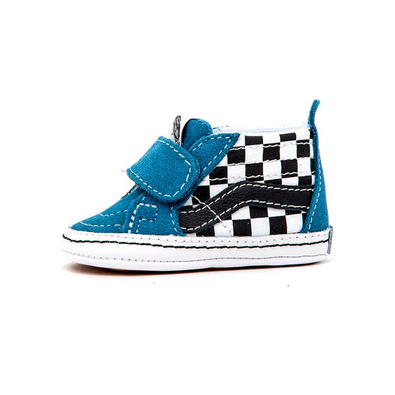 Infant Sk8-Hi Crib (Checkerboard) Black / Navy VBU