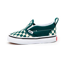 Toddler Slip-On V (Checkerboard) Bistro Green / True White VBU